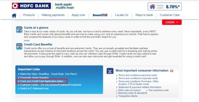 HDFC Credit Card Application Status- How to Track Online and Offline
