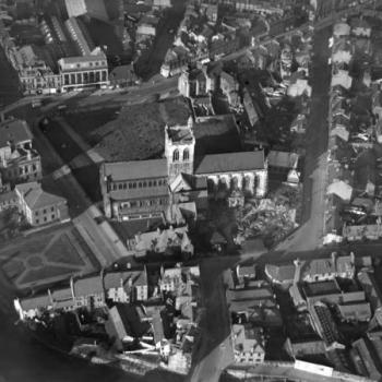 Paisley Abbey Britain from above