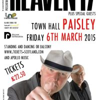 Heaven 17 Paisley Town Hall