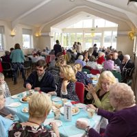 CONTACT THE ELDERLY CELEBRATES GOLDEN JUBILEE WITH TEA PARTY IN KINLOCHARD