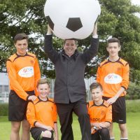 Football legend Tony backs wee players to make it big