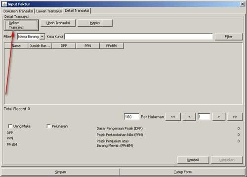 Program e-Faktur - Langkah Ke-6 Rekam Faktur Pajak