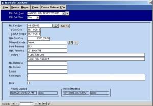 software cek/giro