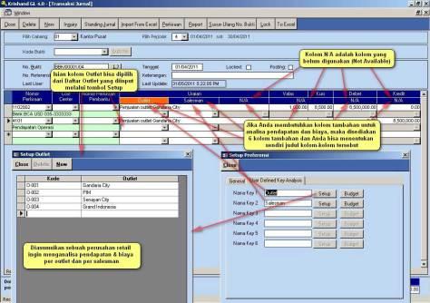 transaksi jurnal - software accounting krishand gl