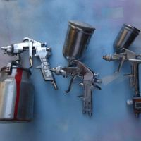 cara menggunakan spray gun/cat semprot