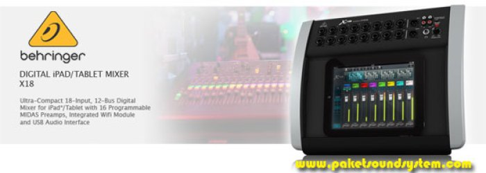 Mixer Audio Digital iPad Behringer X18