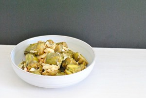 Baby Artichokes with Crab and Ghee