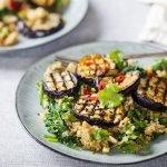 Grilled aubergines