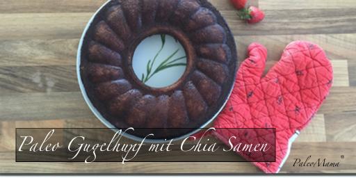 Paleo Kuchen als Gugelhupf mit Chia-Samen und Kakao