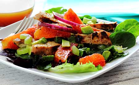 Baby Greens Salad with Crushed Orange Vinaigrette Recipe