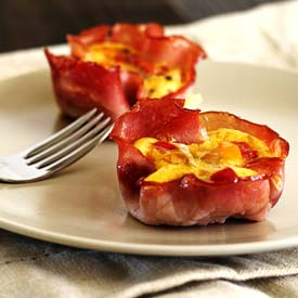 Easy Paleo Ham & Egg Cups