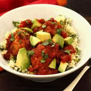 easy paleo recipe for Mexican meatballs