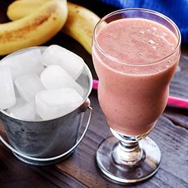 Raspberry, Banana & Coconut Water Ice Cube Smoothie