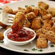 paleonewbie.com recipe for Paleo Italian Chicken Nuggets
