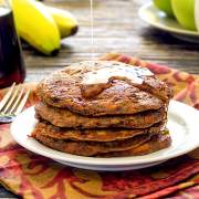 easy paleo recipe for banana-carrot pancakes