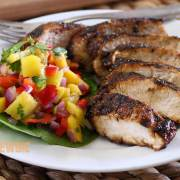 easy paleo recipe for jerk chicken with mango-pineapple salsa