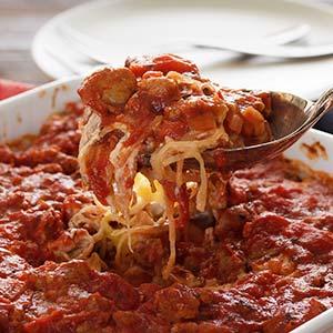 """""""Easy & Cheesy"""" Paleo Baked Spaghetti Squash Recipe"""