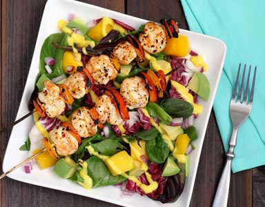 Grilled Shrimp & Mango Paleo Salad Recipe