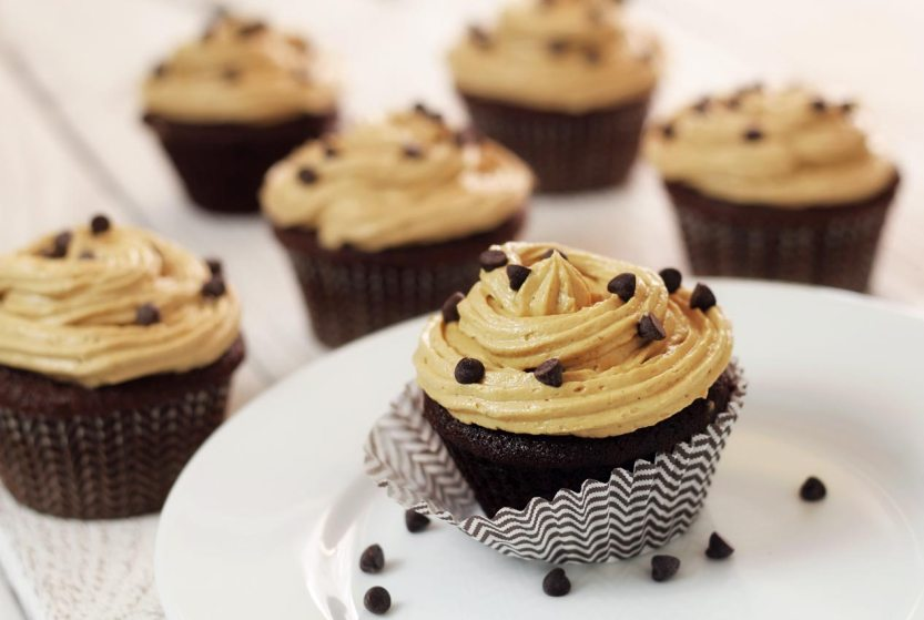 "easy paleo recipe for cupcake treats with ""peanut butter"" frosting"
