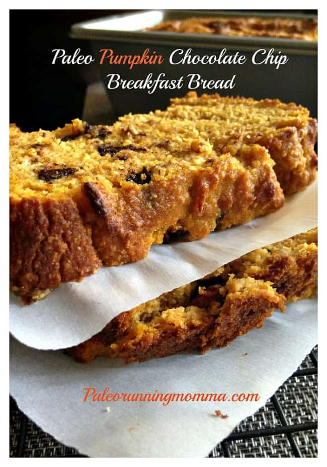 Paleo Pumpkin Chocolate Chip Breakfast Bread - grain and dairy free @ ...