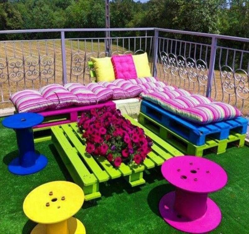 pallet patio furniture garden from pallets t