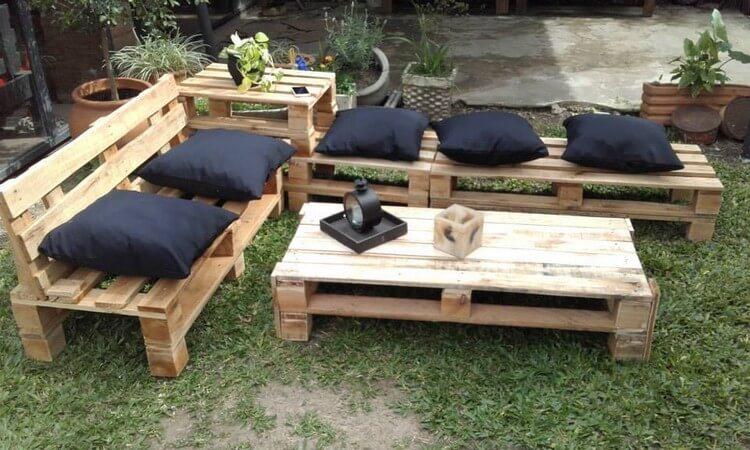 pallet garden furniture from pallets e