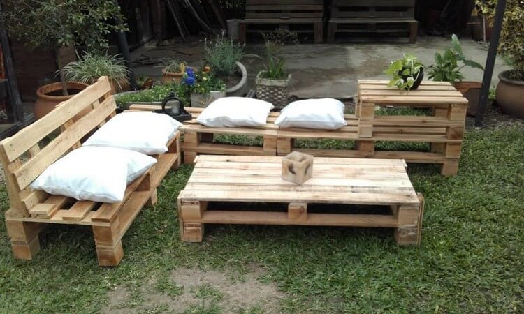 recycled wood pallet garden furniture from pallets l