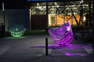 Sculptures at Rinconada Library light up the night