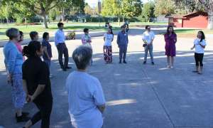 Tai Chi class offered through the linkAges Timebank (photo: PAMF)