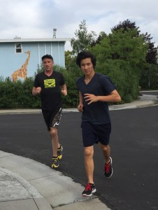 Osy and Kevin on a run. Photo courtesy of Kevin Lynch