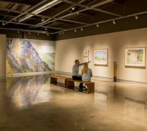 The Foster Art and Wilderness Center highlights the beautiful nature paintings of Trevor Burrows.