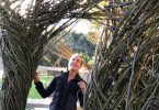 How cool that Patrick Dougherty just spent two weeks in Palo Alto building his newest sculpture? Check it out on  Embaradero Road.
