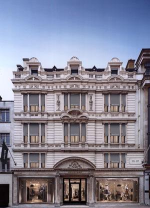 La facciata della Belstaff House a Londra {focus_keyword} Belstaff cancella la presentazione a NY Belstaff House Photo 2 7