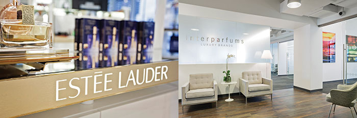 Un corner Estée Lauder e un interno del quartier generale di Interparfums  {focus_keyword} Il beauty mondiale si fa bello in Borsa DOSSIER quotate esteeLauder74901