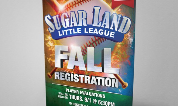Sugar Land Little Leage: Registration Flyer
