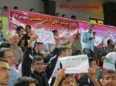 شور وطنخواهی آذری زبانان در حاشیه دیدار تیم ملی هندبال ایران و کویت
