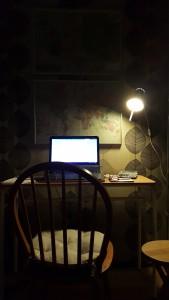 My desk awaiting my creative input