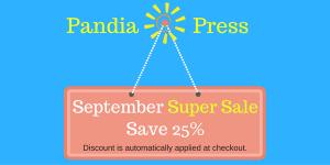 September Super Sale website sign