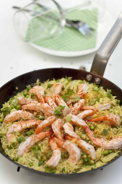 panier de saison riz pilaf aux crevettes. Black Bedroom Furniture Sets. Home Design Ideas