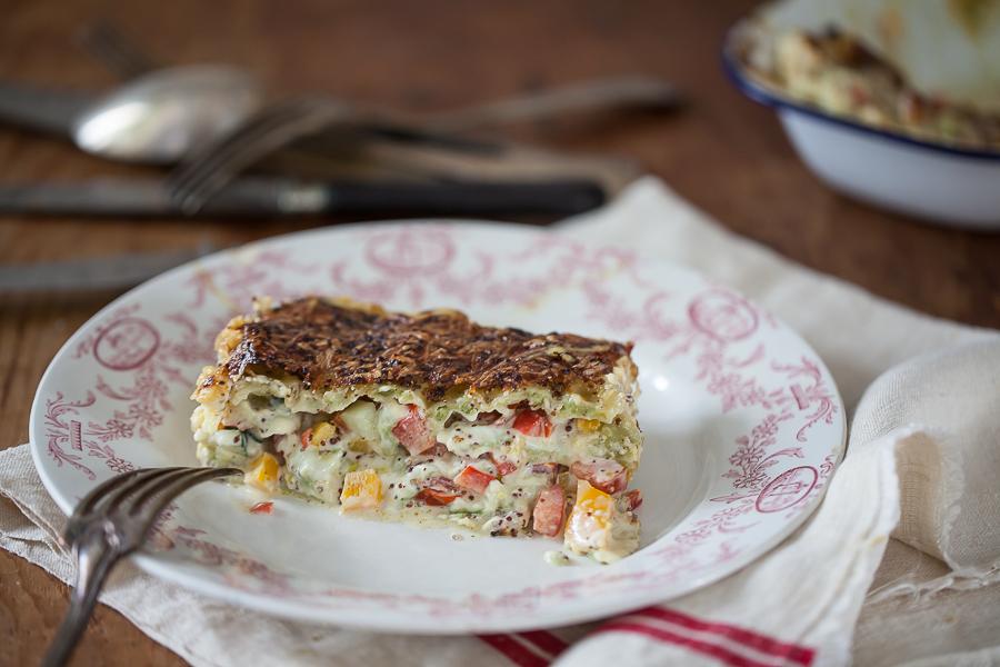 Lasagnes de ravioles du Dauphiné aux petits légumes