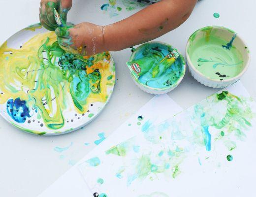 jadalne farby dla dziecka