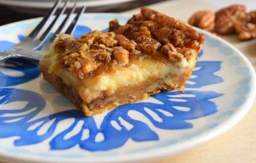 Pecan Cheesecake Squares Recipe