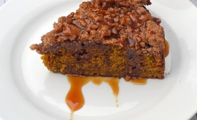 Pumpkin Coffee Cake with Maple Caramel Sauce Recipe