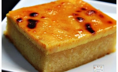 Cassava Cake with Creamy Custard Topping