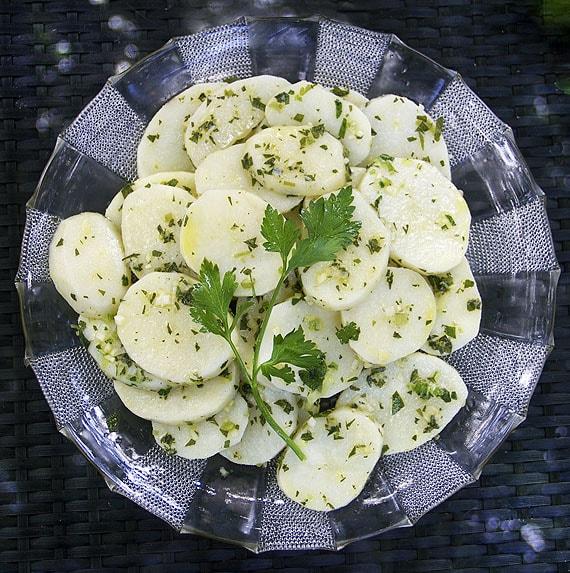 Paleo Chervil Shallot Potato Salad