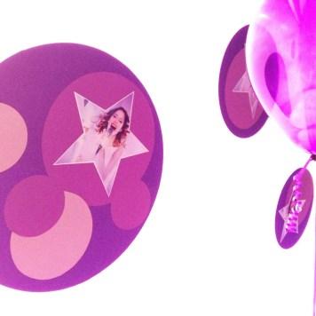 """organizzazione di paola maresca per festa compleanno """"music"""" con allestimento e animazione viola e fucsia a tema violetta"""