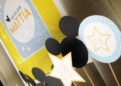 Battesimo Mickey Mouse per Mattia