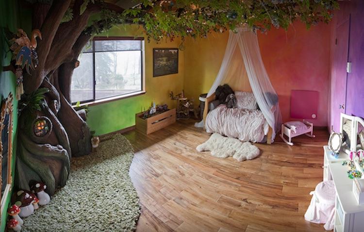 Un padre crea una habitaci n infantil con un rbol m gico for Ideas creativas para mi cuarto