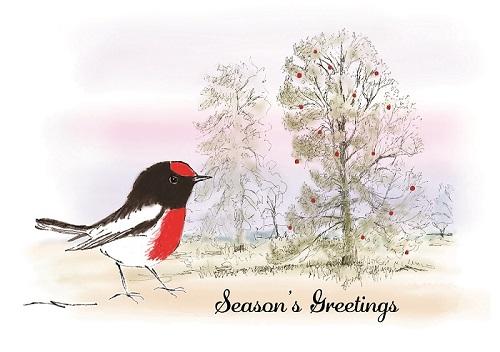 Australian Robin Christmas cards