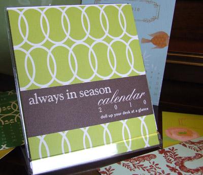 Daisy P 2010 Calendar